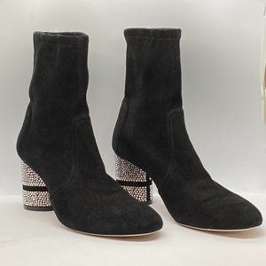 Stuart Weitzman rhinestone boots 8 1/2